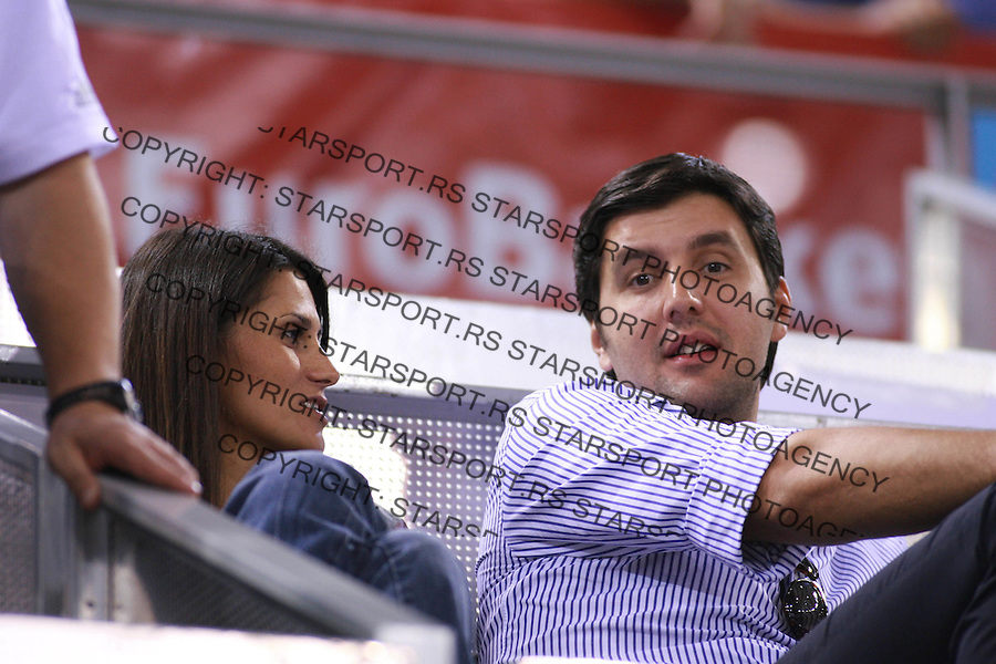 Sep 12, 2007 - Madrid, Spain - DEJAN BODIROGA and IVANA during qualifying round match between France and Turkey in Madrid arena. France beat Turkey 85:64, credit image: © Pedja Milosavljevic