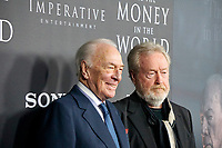 BEVERLY HILLS - DEC 18: Christopher Plummer, Ridley Scott at the premiere of Sony Pictures Entertainment's 'All The Money In The World' at the Samuel Goldwyn Theater on December 18, 2017 in Beverly Hills, CA