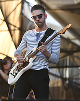 FORT LAUDERDALE BEACH, FL - DECEMBER 02: Aaron Sharp of Saint Motel performs during The Riptide Music Festival on December 2, 2017 in Fort Lauderdale Beach Florida. Credit: mpi04/MediaPunch