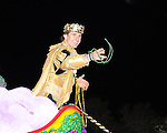 New Orleans Saint and Superbowl MVP Drew Brees reigns as King of Bacchus 2010. Images from the Bacchus Parade which rolled along St. Charles Avenue on February 14.