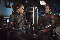 ANT-MAN AND THE WASP (2018)<br /> EVANGELINE LILLY, PAUL RUDD<br /> *Filmstill - Editorial Use Only*<br /> CAP/FB<br /> Image supplied by Capital Pictures