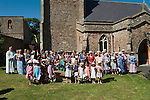 Stowey Female Friendly Society ( The Womens Walk ) Club Day. Nether Stowey Somerset UK 2014.