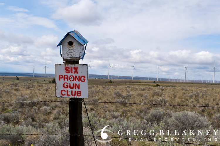 Bluebird house sponsored by local gun club - Bickelton - Washington State