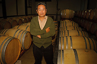 Grace Wine Managing Director Shigekzau Misawa in his wine cellar, Katsunuma, Yamanashi Prefecture, Japan, October 12, 2009.