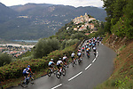 The peloton climb during Stage 1 of Tour de France 2020, running 156km from Nice Moyen Pays to Nice, France. 29th August 2020.<br /> Picture: Bora-Hansgrohe/BettiniPhoto | Cyclefile<br /> All photos usage must carry mandatory copyright credit (© Cyclefile | Bora-Hansgrohe/BettiniPhoto)