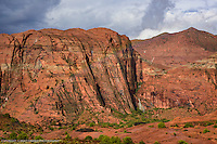 Snow Canyon, Utah waterfalls & rainbow