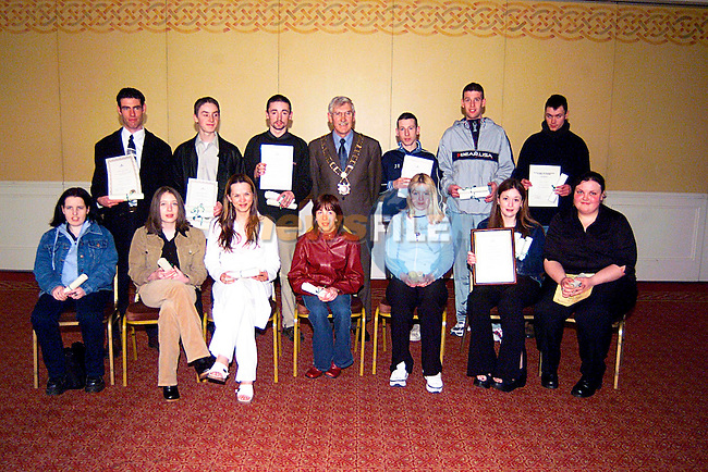 Students from The DYSCS with There Certificates,and The  Mayor Jimmy Mulroy...Pic Tony Campbell/Newsfile