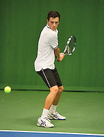01-12-13,Netherlands, Almere,  National Tennis Center, Tennis, Winter Youth Circuit, Ruben Konings   <br /> Photo: Henk Koster