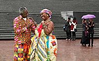 Nederland  Amsterdam -  September 2018. 50 jaar Bijlmer. Dance With Royals - Kente Fugu Festival op het Anton de Komplein in de Bijlmer. Dansfestival met veel dansen uit Ghana.     Foto mag niet in negatieve context gepubliceerd worden. Foto Berlinda van Dam / Hollandse Hoogte