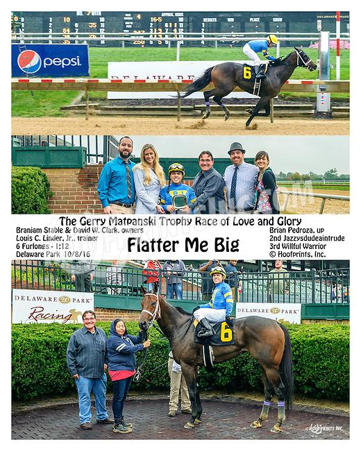 Flatter Me Big winning at Delaware Park on 10/8/16