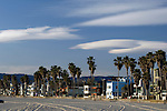 Lenticular clouds over Venice, California