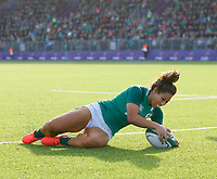 2nd February 2020; Energia Park, Dublin, Leinster, Ireland; International Womens Rugby, Six Nations, Ireland versus Scotland; Sene Naoupu of Ireland scoring the second try of the day 13 - 0