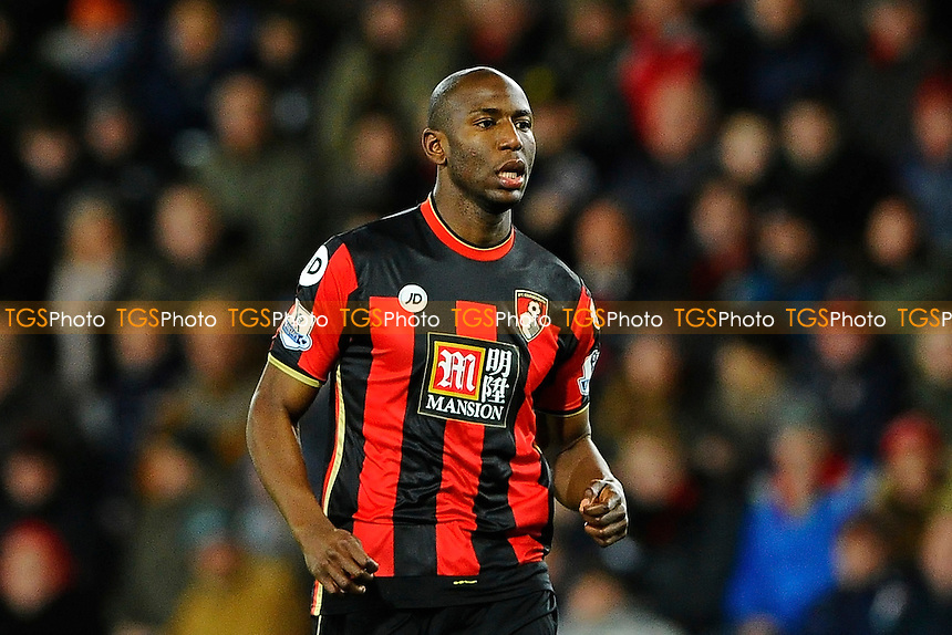 Benik Afobe of AFC Bournemouth during AFC Bournemouth vs West Ham United at the Vitality Stadium