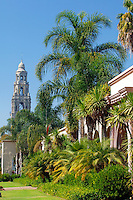 The California Tower and the Museum of Man, Balboa Park, San Diego, California.