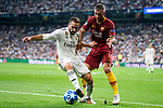 Real Madrid Dani Carvajal and A.S. Roma Aleksander Kolarov during UEFA Champions League match between Real Madrid and A.S.Roma at Santiago Bernabeu Stadium in Madrid, Spain. September 19, 2018. (ALTERPHOTOS/Borja B.Hojas)