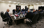 Palestinian Prime Minister Rami al-Hamdallah heads the meeting of the leaders of the security establishment in the West Bank city of Ramallah, on January 17, 2019. Photo by Prime Minister Office