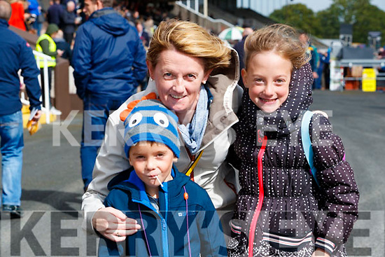 Conor, Mary and Sarah Cox, all from Listowel enjoying a family day out at the Races on Sunday last.