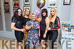 Elenor Fitzgerald from Rock Park Ave celebrating her 40th birthday at the 80's disco fundraiser in the Rose Hotel on Friday night.<br /> L to r: Yvonne Knott, Angelina Moriarty, Elenor Fitzgerald, Fiona Hobbert and Antoinette Hurley.