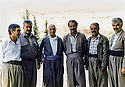 Iraq 1992 <br /> In Suleimania, members of PUK, from left to right, 2nd, Mullazem Omar Abdallah, Ibrahim Ahmed, Ahmed