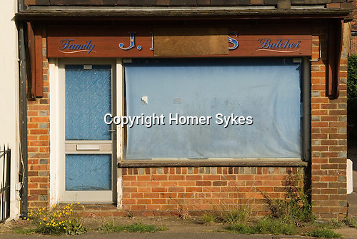 Ockley village Family Butcher shop closed down. Surrey  England.