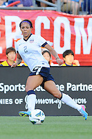 US Women's National forward Sydney Leroux (2) in action during the International Friendly soccer match between the USA Women's National team and the Korea Republic Women's Team held at Gillette Stadium in Foxborough Massachusetts.   Eric Canha/CSM