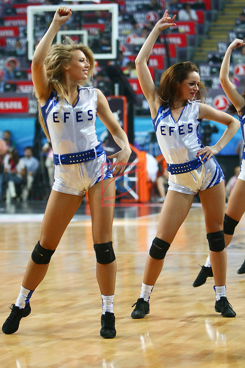 Zalguiris Cheerleaders (Cheer Up Dancers). CSKA Moscow vs Olympiacos Piraeus: 61-62 - Game Final - Final Four Istanbul 2012.
