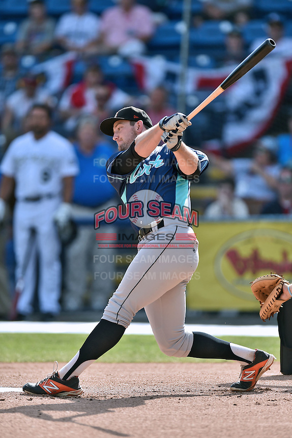 Delmarva Shorebirds outfielder Conor Bierfeldt (34) participates in the South Atlantic League All Star Game Home Run Derby on June 23, 2015 in Asheville, North Carolina. The North Division defeated the South 7-5(Tony Farlow/Four Seam Images)