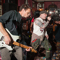 'Victims of Radiation' play the Station Hotel in Ashton-under-Lyne, Greater Manchester on Sunday 13th November, 2017.