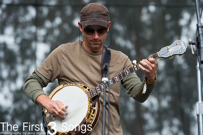 Mike Bont of Greensky Bluegrass performs at the Outside Lands Music & Art Festival at Golden Gate Park in San Francisco, California.