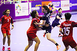 Tomomi Kawata (JPN), <br /> AUGUST 30, 2018 - Handball : <br /> Women's Bronze Medal Match <br /> between Japan 43-14 Thailand <br /> at GOR Popki Cibubur <br /> during the 2018 Jakarta Palembang Asian Games <br /> in Jakarta, Indonesia. <br /> (Photo by Naoki Nishimura/AFLO SPORT)