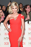 Chloe Sims at the National TV Awards 2017 held at the O2 Arena, Greenwich, London. <br /> 25th January  2017<br /> Picture: Steve Vas/Featureflash/SilverHub 0208 004 5359 sales@silverhubmedia.com