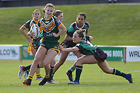 The Wyong Roos play Northern Lakes Warriors in Round 8 of the Ladies League Tag Central Coast Rugby League Division at Morry Breen Oval on 27th of May, 2019 in Kanwal, NSW Australia. (Photo by Giselle Barkley/LookPro)