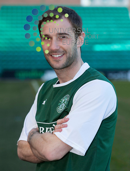 Hibernian Press call 4 April 2013..Kevin Thomson talks to the media before the clash with Celtic on Saturday 6th April 2013..Picture: Alan Rennie/Universal News & Sport.