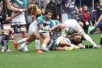 Sunday 19 October 2014<br /> Pictured: Treviso scrum-half Alberto Lucchese distributes the ball<br /> Re: Ospreys v Treviso, Heineken Champions Cup at the Liberty Stadium, Swansea