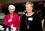 SOUTHINGTON, CT-092618JS18--Helen Henney and Diane Dunn, both with American Savings Foundation, at the Waterbury Regional Chamber's 24th Annual Malcolm Baldrige Chamber Awards ceremony held at the Aqua Turf in Southington. <br /> Jim Shannon Republican American