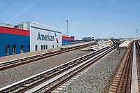 NEW YORK, NY - MAY 12: View of American Airlines warehouses at John F. Kennedy International Airport on May 12, 2020 in New York, NY.(Photo by Pablo Monsalve / VIEWpress via Getty Images)
