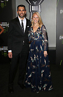 29 November 2018 - Las Vegas, NV - Aric Almirola, Janice Almirola. 2018 Monster Energy NASCAR Awards Red Carpet at Wynn Las Vegas.     <br /> CAP/ADM/MJT<br /> &copy; MJT/ADM/Capital Pictures