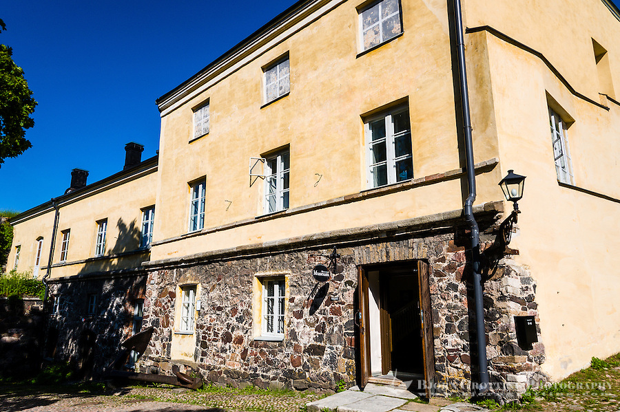 Finland, Helsinki. Suomenlinna, Ehrensvärd Museum. Suomenlinna sea fortress.