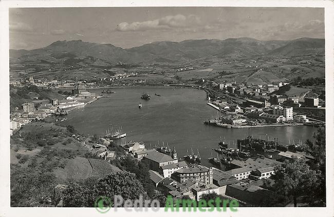 DESTRUCCION A TODA COSTA 2010 (DTC2010) Puerto de Pasaia. Guipuzcoa. Aproximacion 1950. © Colección personal Pedro Armestre