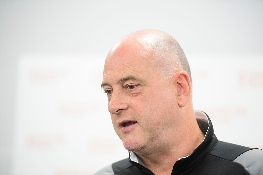 Lincoln City Women's manager Richard Cooper speaking at a press conference<br /> <br /> Photographer Chris Vaughan/CameraSport<br /> <br /> Lincoln City Women - Press conference - Tuesday 18th June 2019 - Sincil Bank - Lincoln<br /> <br /> World Copyright © 2019 CameraSport. All rights reserved. 43 Linden Ave. Countesthorpe. Leicester. England. LE8 5PG - Tel: +44 (0) 116 277 4147 - admin@camerasport.com - www.camerasport.com
