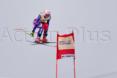 January 30, 2010: Chemmy Alcott of the UK during the downhill portion of the Women's FIS Ski World Cup race in St. Moritz, Switzerland. Photo: CalSports/Actionplus - Editorial Use....