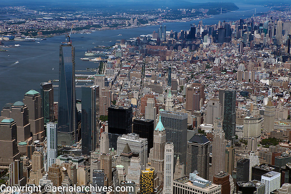 aerial photograph Lower Manhattan, New York City