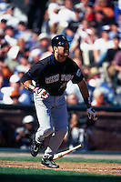 SAN FRANCISCO, CA - Mike Piazza of the New York Mets in action during a game against the San Francisco Giants at Pacific Bell Park in San Francisco, California in 2000. Photo by Brad Mangin