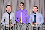 Gneeveguilla Football Club awarded Padraig Sullivan 'Young Player of the Year', John Paul Brosnan 'Senior Player of the Year' and Aengus O'Leary 'Junior Player of the Year at the Gneeveguilla Social in the Killarney Heights Hotel last Sunday night.