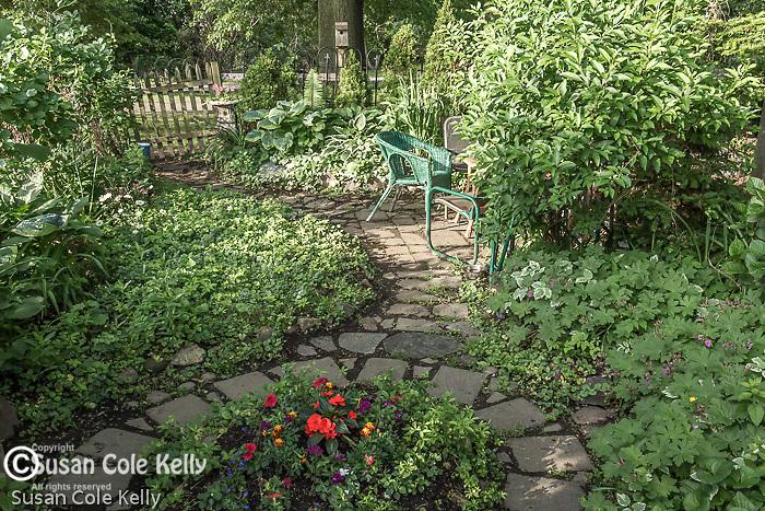 The Richard D. Parker Memorial Victory Gardens in The Back Bay Fens, Boston, Massachusetts, USA