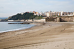 Sandy beach Calle Independencia, Ceuta, Spanish territory in north Africa, Spain