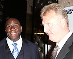 "Earvin 'Magic' Johnson & Larry Bird.attending the Broadway Opening Night Performance After Party for ""Magic / Bird"" at the Edison Ballroom in New York City on April 11, 2012"