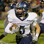 Damonte Ranch Mustangs running back Cameron Sandoval runs against the Galena Grizzlies in their football game played on Thursday night, October 29, 2015 in Reno, Nevada.
