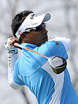 SUZHOU, CHINA - APRIL 16:  Thongchai Jaidee of Thailand tees off on the 1st hole during the Round Two of the Volvo China Open on April 16, 2010 in Suzhou, China. Photo by Victor Fraile / The Power of Sport Images