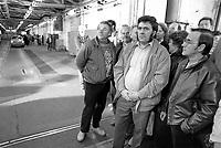 - Ceremony for the last Trabant car to leave the VEB Sachsenring Automobilwerke plant in Zwickau after the reunification of the German Democratic Republic (GDR) and the Federal Republic of Germany (FRG), April 1991.<br /> <br /> - cerimonia per l'ultima automobile Trabant uscita dallo stabilimento VEB Sachsenring Automobilwerke di Zwickau dopo la riunificazione fra Repubblica Democratica Tedesca (DDR) e Repubblica Federale Tedesca (RFT), Aprile 1991